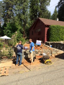 Craig Johnson Plumbing Crew hard at work on a Backflow Prevention Device install - Grass Valley, Ca.